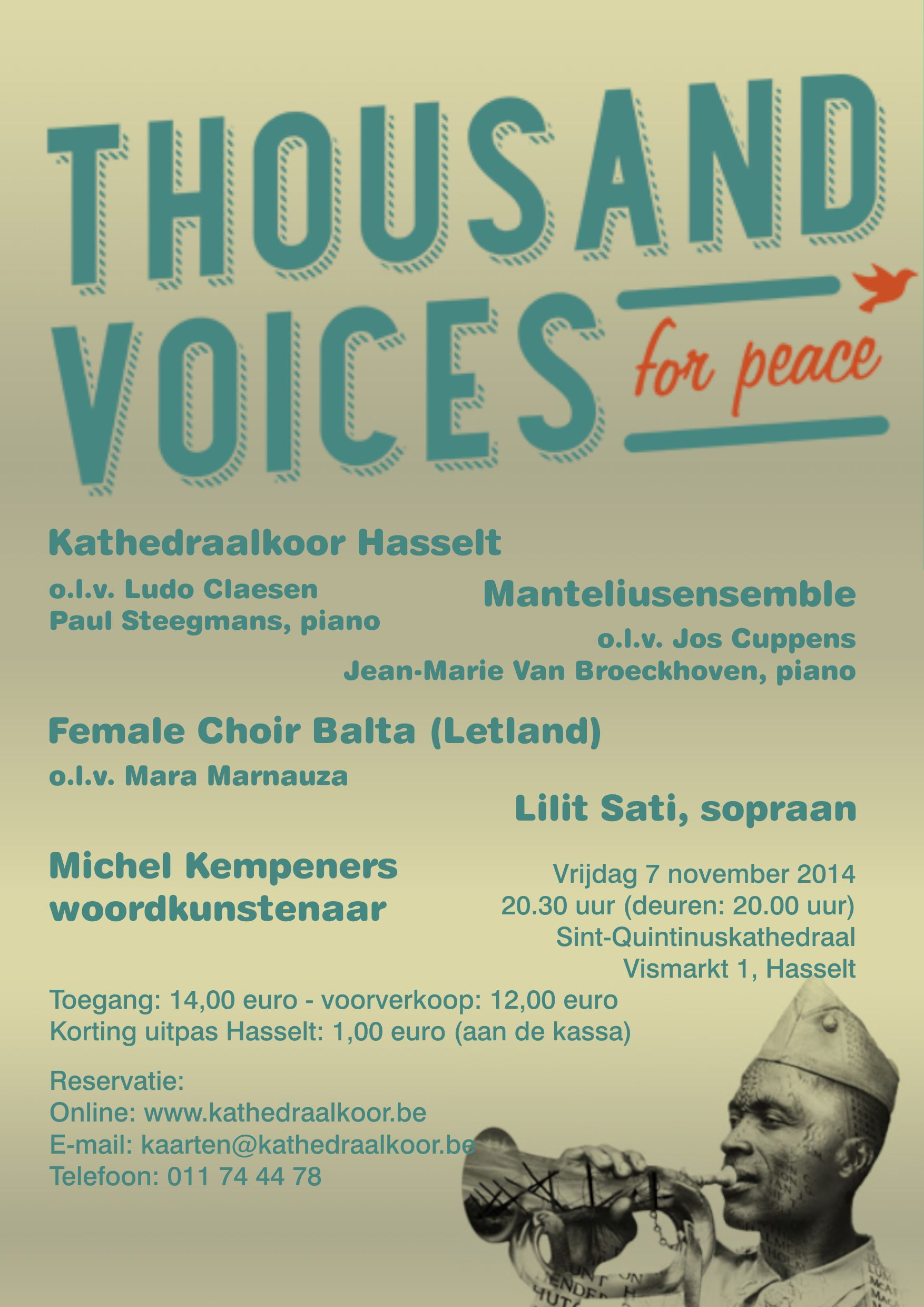 A Thousand Voices for Peace - november 2014